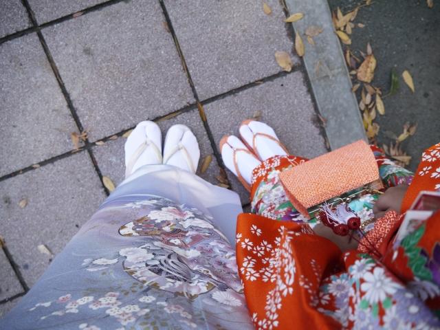 裾上げは着物を長く楽しめる【きものレンタル夢京都祇園店】